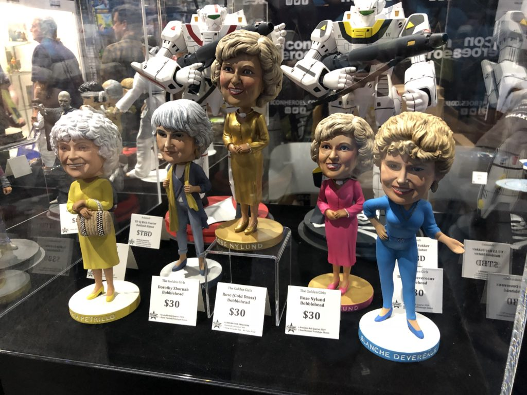 Golden Girls bobble heads for sale at Comic Con