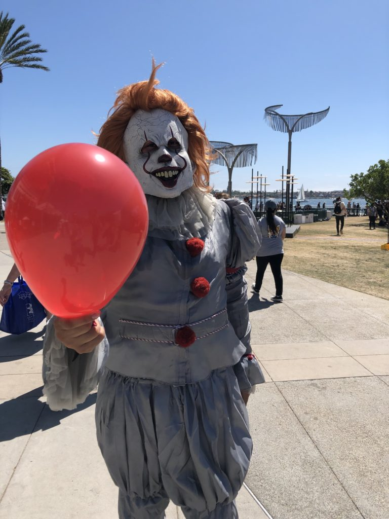 Pennywise costume at San Diego Comic Con