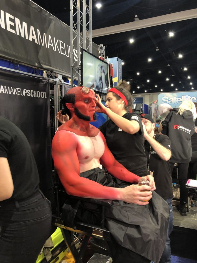 San Diego Comic Con attendee getting professional costume / makeup