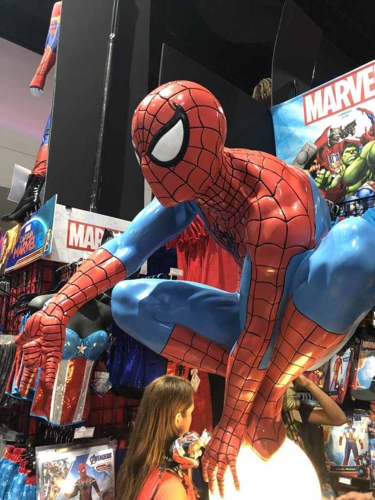 Marvel Comics display at Comic Con