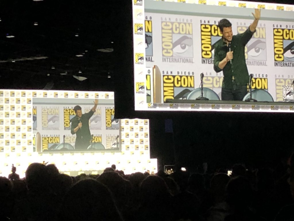 Tom Cruise on stage at Comic Con